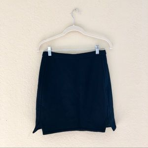 NWT J. Crew Black Wool Mini Skirt